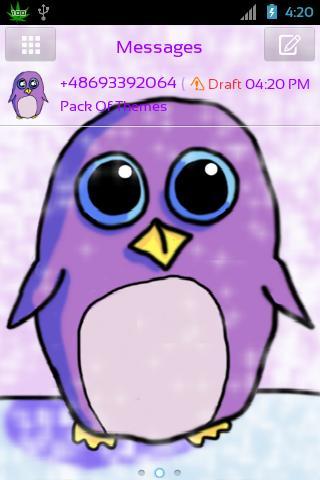 GO SMS Pro Theme Penguin - screenshot