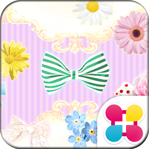 リボンとお花の壁紙 Flower&Ribbon Icon