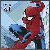 Superheroes on Stamps