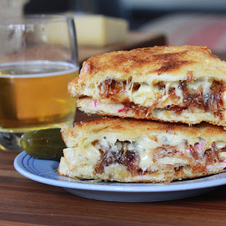 Triple Decker French Onion Grilled Cheese.
