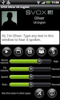 Screenshot of SVOX UK English Oliver Trial