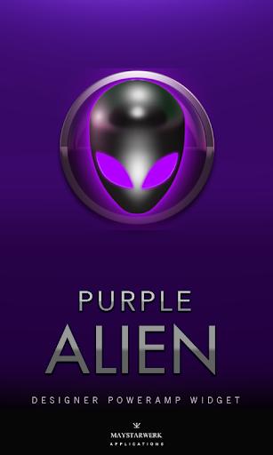 Poweramp Widget Purple Alien