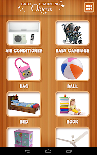 Baby learning Objects Card