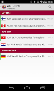 WKF Events- screenshot thumbnail