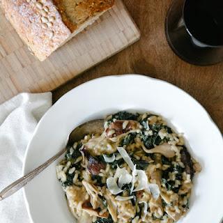 Mushroom and Kale Risotto