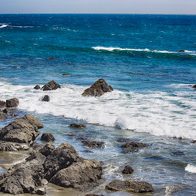 Monterey by Zetsu Nawa - Landscapes Beaches ( color, waves, ocean, beach, rocks )