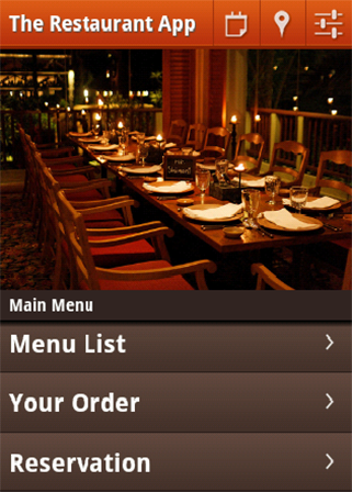Cafe Restaurants app demo