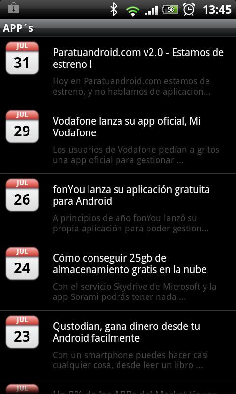 Paratuandroid.com - APP - screenshot