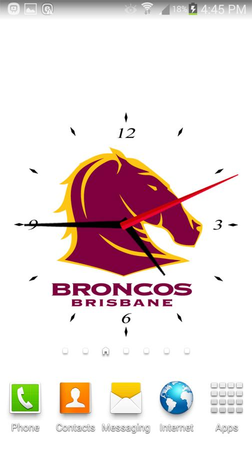 Brisbane Broncos Analog Clock- screenshot