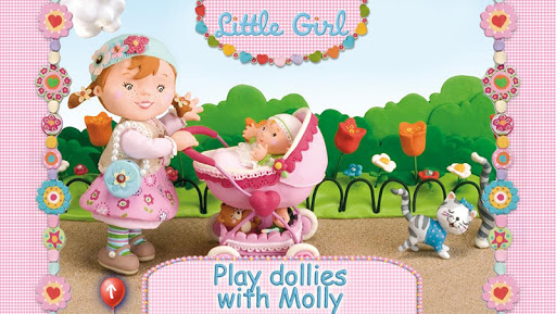 Molly's playing with her dolly