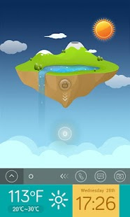 Sky Island  GO Locker Theme - screenshot thumbnail