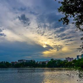 Sunset by Luqman Asnawi - City,  Street & Park  City Parks (  )