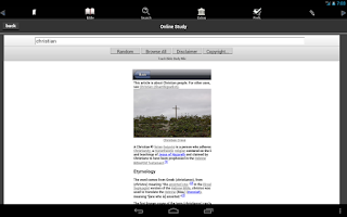Screenshot of Touch Bible (KJV Only Bible)