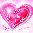 Pink Heart LiveWallpaer Trial icon