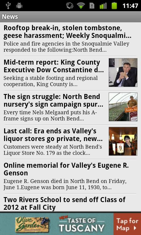 Snoqualmie Valley Record - screenshot