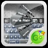 Paris Rain GO Keyboard Theme