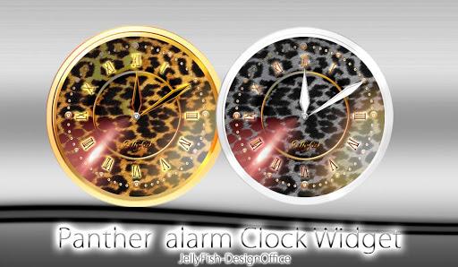 豹柄アナログ時計ウィジェット