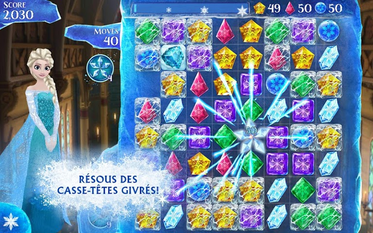 android La Reine des Neiges Free Fall Screenshot 8