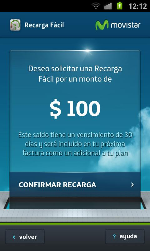 Recarga- screenshot
