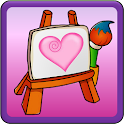 Coloring Valentine's Day icon