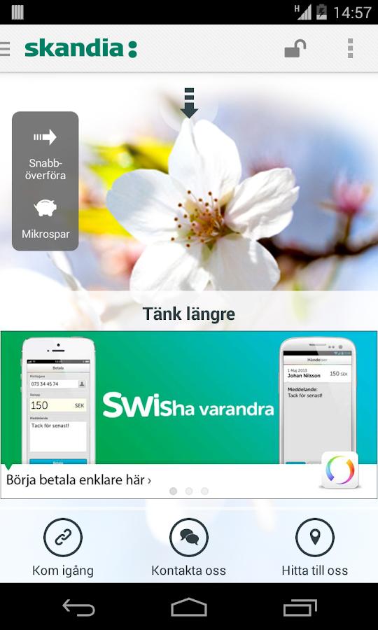Skandia och Skandiabanken - screenshot