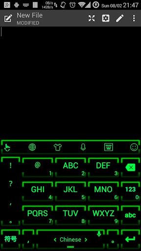 키보드 테마 NeonGrn2|玩個人化App免費|玩APPs