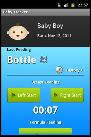 Baby Tracker Lite - screenshot