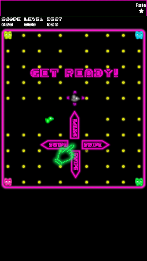 Fancy Swipy Bird Hunt - Neon - screenshot
