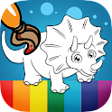Dinosaurs coloring game icon