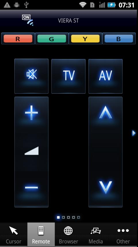 Panasonic TV Remote - screenshot