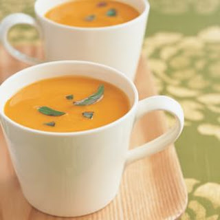 Curried Butternut Squash Soup with Coconut and Lime