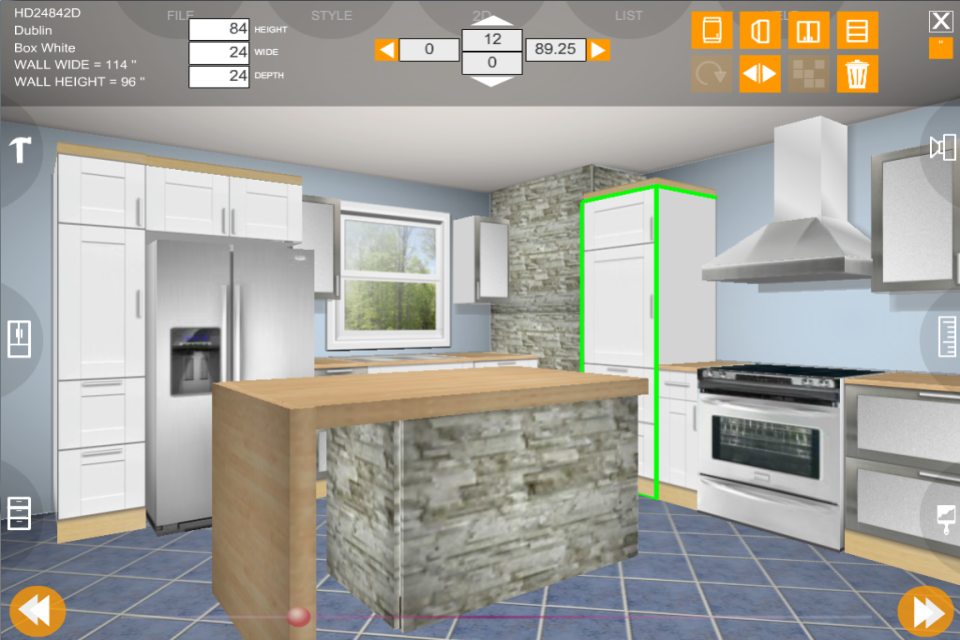 Udesignit kitchen 3d planner google play 39 de android for Bathroom planner 3d