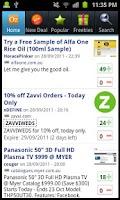 Screenshot of OzBargain Free