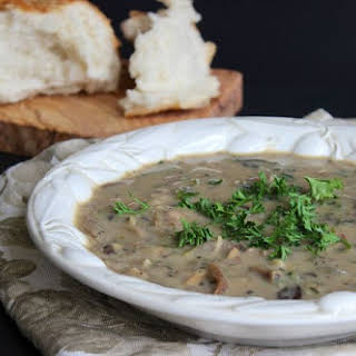 Creamless Cream of Mushroom Soup.