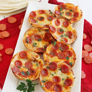Easy Mini Tortilla Pizzas.