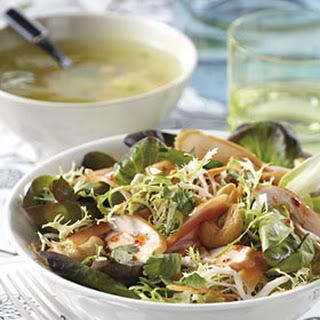 Kippensoep met een Oosterse salade