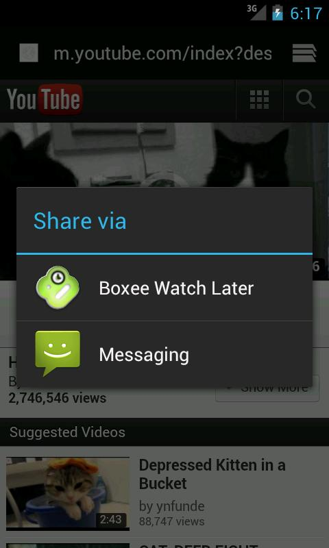 Boxee Watch Later- screenshot