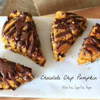 Gluten Free Pumpkin Scones with Chocolate Drizzle
