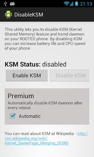 Disable KSM