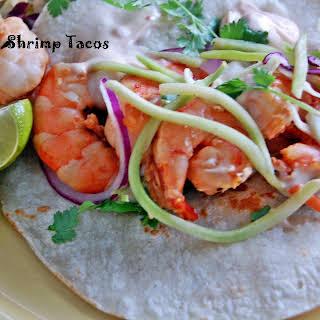 Grilled Ponzu Shrimp Tacos.