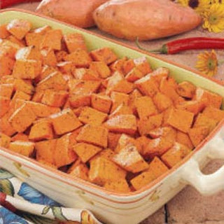 Spicy Sweet Potatoes.