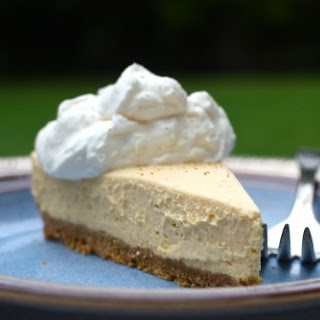 Simple Chilled Pumpkin Cheesecake.