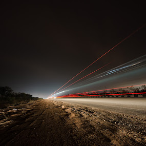 To Infinity by Adit Lal - Abstract Light Painting ( exposure, vehicle, night, trails, long )