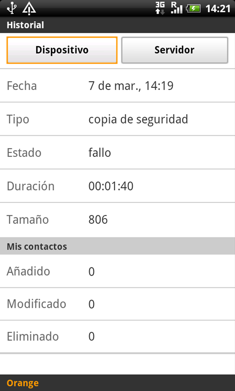 Copia de Seguridad - screenshot