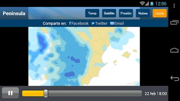 Screenshot of Tiempo y Temperatura