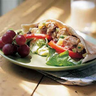 Fruity Tuna-Salad Pita Sandwiches.