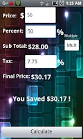 Screenshot of The Discount Calculator Lite