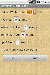 Sourdough Bakers Calculator - screenshot thumbnail
