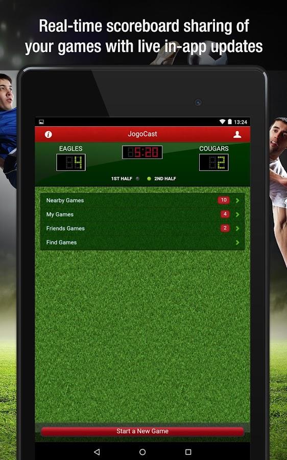 JogoCast Soccer Scoreboard - screenshot