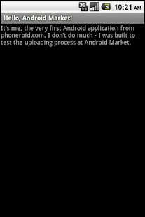 Hello, Android Market! - screenshot thumbnail